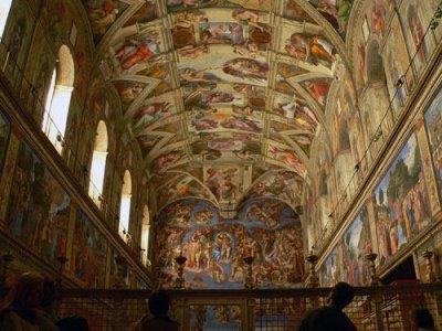 le plafond de la chapelle sixtine de vercingedraguix